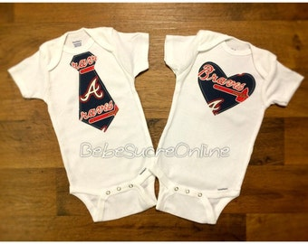 Atlanta Braves Bodysuit- You Choose Heart or Tie