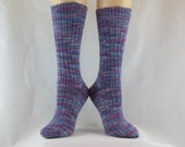 Shades of Purple Hand Cranked Socks-Free Shipping