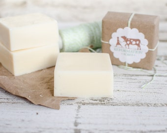 Purely White Soap {All-Natural, Tallow Soap, Cold Process Soap, Farmstead Soap, Handcrafted}