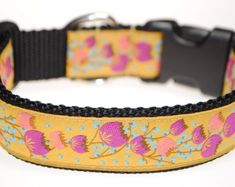 "Berries 1"" Wide Adjustable Dog Collar - Also available as a martingale"