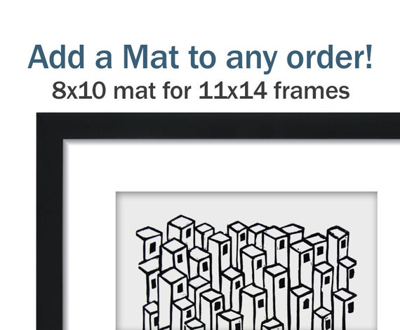 items similar to 8x10 archival photo mat for 11x14 frame on etsy. Black Bedroom Furniture Sets. Home Design Ideas