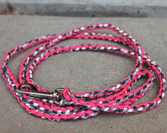 Items Similar To 4 Strand Round Braid Paracord Dog Leash Reflective
