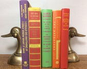 Vintage Bright Multi-Colored Book Collection, Photo Prop, Book Set, Home Decor, Wedding Decoration, Centerpiece