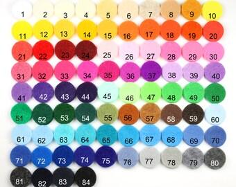"""Felt Circles 3"""" - 10 Colors, 80pcs, Felt Circle, Circles, Felt Die Cut, Felt Shapes, Pre Cut Felt Circles, Supplies, Felt, Three inch circle"""