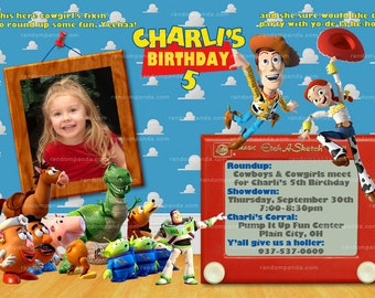 Personalize Toy Story Invitation, Woody Invite, Jessie Invitation, Toy Story Party