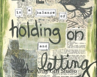 Life holding on - Art Print available in three sizes