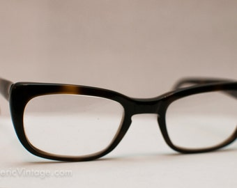 1960s Tortoise Shell Librarian Glasses: Smart Never Looked So Sassy