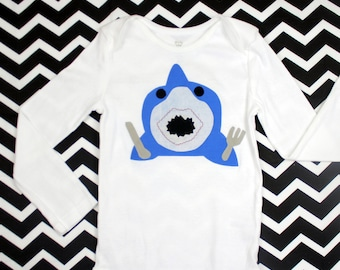 Hungry Shark Onesie Size NB-24 months