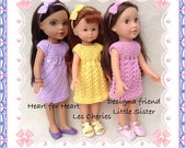 LC10 Top Down Dress Trio for 13 and 14 inch dolls PDF Pattern