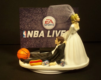 basketball wedding cake toppers basketball cake topper etsy 11106