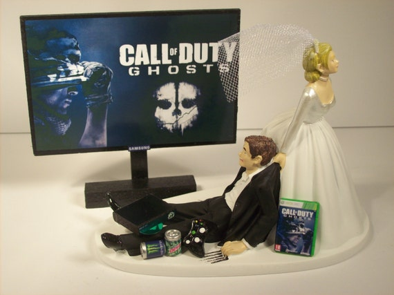 funny wedding cake toppers xbox gamer addict wedding cake topper ghosts by 14610