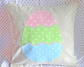 Easter Egg Pillow Cover, Easter Pillow, Rustic Easter, Polka dot Easter, Easter Egg Home Decor, Spring Home Decor, Spring pillow, Pastel