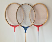 Vintage Badminton Rackets Old Wood Racquets