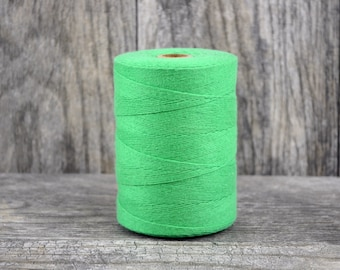 Green Solid Cotton Twine Bulk Spool