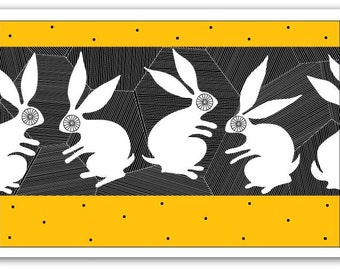 Blank Card with Envelope – Stone Rabbits