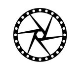 Mountain Bicycle Disc Brake Die Cut for Scrapbooking or Cardmaking