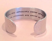 "Mother / Daughter / Graduate - ""mothers and daughters never truly part, maybe in distance, but never in heart."" 1"" hidden message cuff"