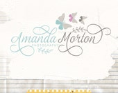 Premade Logo Design and Watermark Design // Photography logo // Butterfly and swirls logo // Photography branding // Boutique Logo