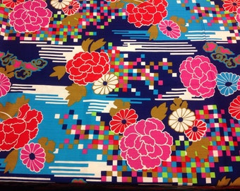 Wonderfully Bold Vintage Fabric 2yds+16in piece