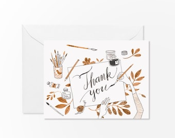 Artsy Thank You card