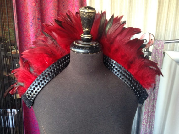 Red Feather Shoulder Shrug