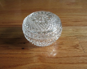 Vintage Glass Covered Candy Dish 1950s 1960s Mint Dish