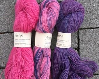 Naturally colored yarn to make a Icelandic Hyrna (Shawl)