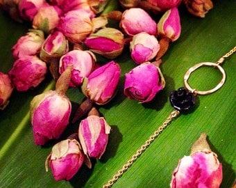 BAHANA (small circle)- Single Rose bracelet available in 9 colors. 14kt gold filled
