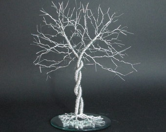 """Unique Wedding Cake Topper """"Entwined""""  ~ Wire Tree Wedding Cake Topper ~ Very Unique"""