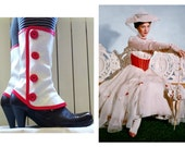 Mary Poppins Medium white spats waterproof cosplay