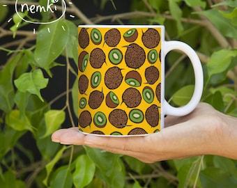 Kiwi Mug, Ceramic, Illustrated