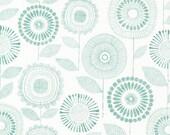 Cloud9 Organic Fabrics - Shape of Spring - Petal Print Sage 1/2 YD