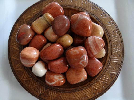 Red Malachite Stone : Red malachite stone gemstone tumbled oz wiccan pagan
