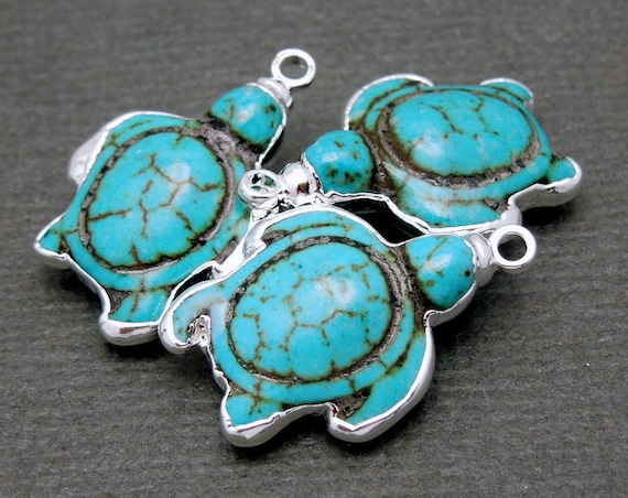 Turquoise Sea Turtle by Houndkeeper on Etsy  |Turquoise Sea Turtle