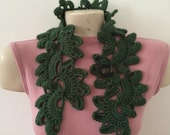 Crochet Flower Button Collar Neck Scarf Neck Warmer, Usa seller