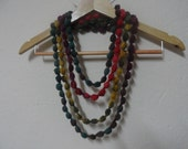 Multicolor Bubble Loop Infinity Scarf Necklace, Usa Seller