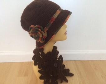 WINTER SALE Woman Hat, Crochet Woman Hat Scarf