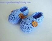 Light Blue Baby Boy Shoes, Newborn Shoes, Crochet Loafers, Baby Booties, Baby Shoes, Boy Booties