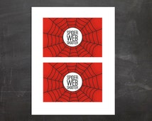 Spiderman Spider Web Shooter Silly String Label PDF