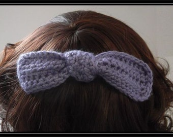 Boho Hippie  Crocheted Knotted Hair bow clip!  Ready to ship!