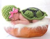 Crochet Newborn Turtle Photo Prop