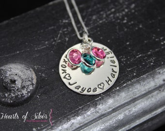 Hand Stamped Jewelry -  Personalized Necklace - Hand Stamped Necklace - Charm Necklace