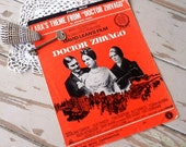 "Vintage Dr. Zhivago Sheet Music - Retro ""Lara's Theme,"" Printed Paper Sheet Music From 1967, Mid Century Movie Score Sheet Music Piano Music"