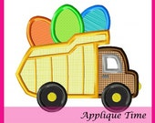 Instant Download Dump Truck Easter Eggs Machine Embroidery Applique Design 4x4, 5x7 and 6x10