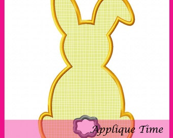 Instant Download Bunny with Tail Machine Embroidery Applique Design 4x4, 5x7 and 6x10