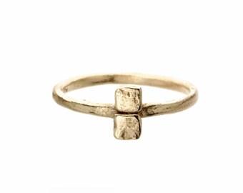 Gold bar ring. 18k. Fig.