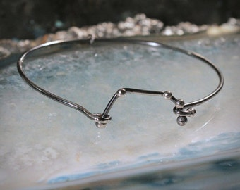 ARIES Sterling Silver bracelet - Oxidized jewelry, universe, stars, unisex, holiday gift, perfect gift