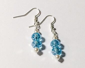 Aquamarine Blue Earrings Mothers Day Gift Gift For Her Bridesmaid Friendship Gift Dangle Earrings Women's Gift