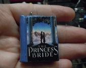 Princess Bride, inspired Book Necklace, Polymer Clay