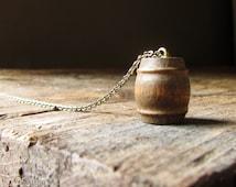 Whiskey Barrel Necklace